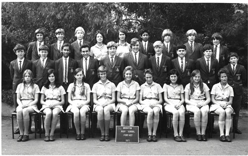 Class 4F2 at Brighton High School in 1971.