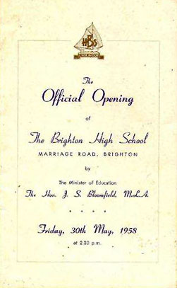 Official opening of Brighton High School in Melbourne.