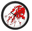 Blood spatter clock