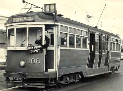 Tom Mann, born in Lexton Victoria, driving a Melbourne tram.