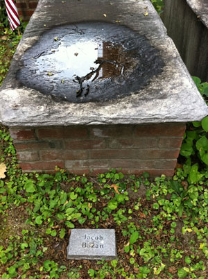 Jacob Basan's grave in Philadelphia.
