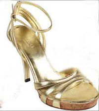 Pretty gold shoes