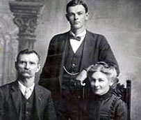 Priscilla (Dudley) Kinney with husband, George, and their  son, William.
