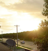 Sunshine in Mackay at 6.25 p.m. on December 28