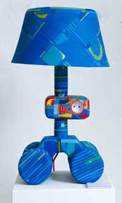 Lamp made from thongs