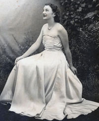 Lesley as a young woman