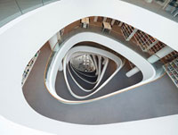 The atrium in the new library at the University of Aberdeen