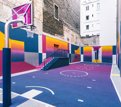 Pretty French basketball court.
