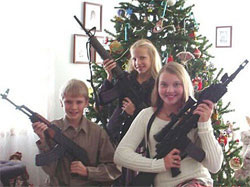 Totally disgusting xmas card sent out to the world by a family in the USA