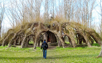 Marcel Kalberer's willow tree dome.
